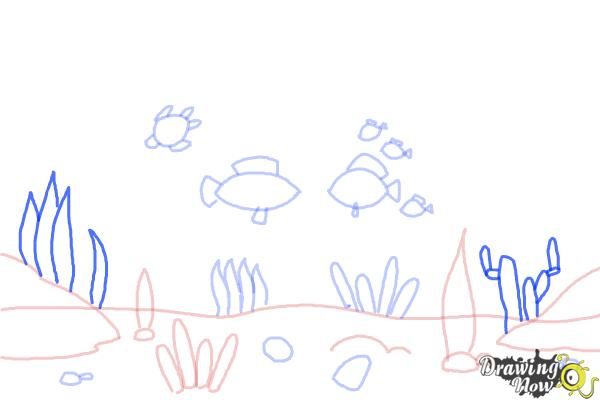 How to Draw an Underwater Scenehow to Draw an Underwater Scene - Step 7
