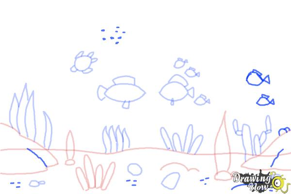 How to Draw an Underwater Scenehow to Draw an Underwater Scene - Step 8