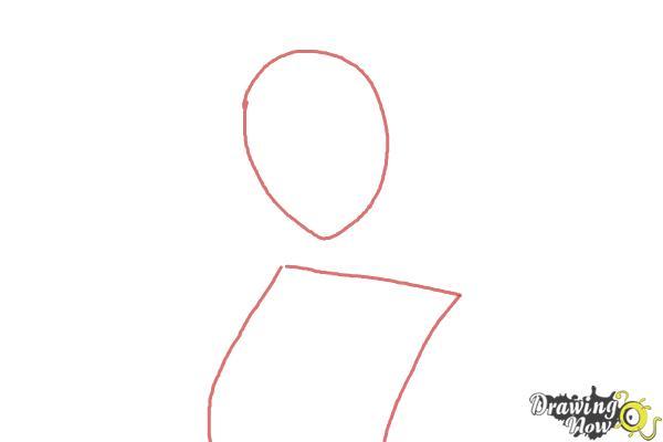 How to Draw Gasai Yuno from Mirai Nikki - Step 1