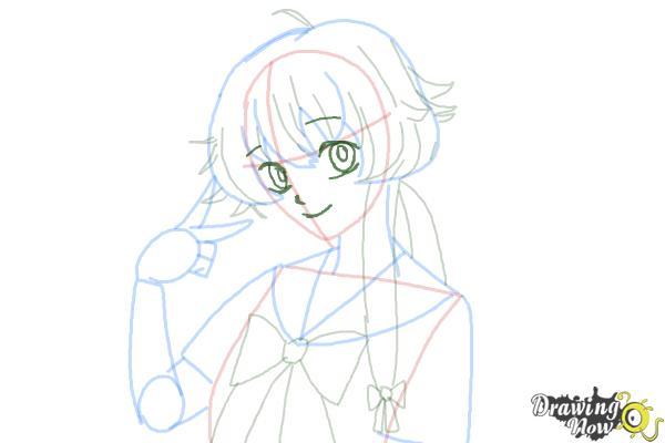 How to Draw Gasai Yuno from Mirai Nikki - Step 10