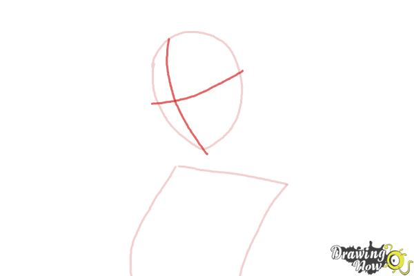 How to Draw Gasai Yuno from Mirai Nikki - Step 2