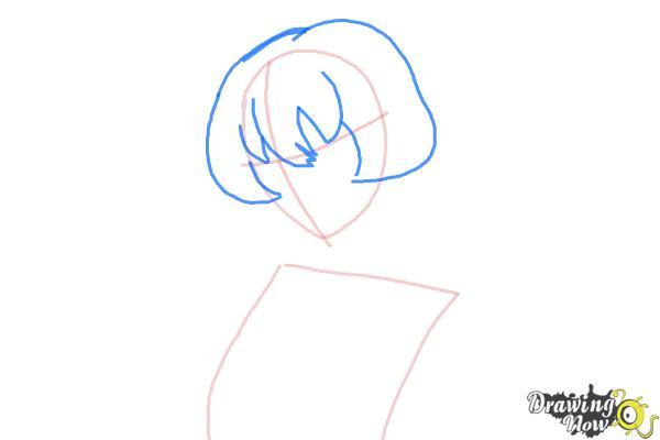 How to Draw Gasai Yuno from Mirai Nikki - Step 3