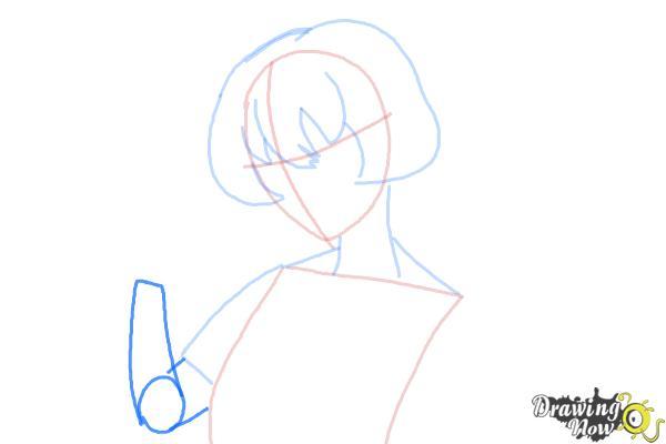 How to Draw Gasai Yuno from Mirai Nikki - Step 5