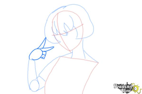 How to Draw Gasai Yuno from Mirai Nikki - Step 6