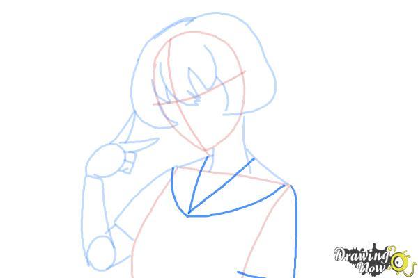 How to Draw Gasai Yuno from Mirai Nikki - Step 7