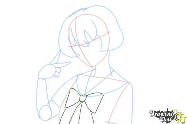 How to Draw Gasai Yuno from Mirai Nikki - Step 8