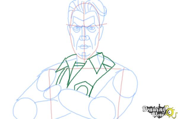 How to Draw Handsome Jack from Borderlands 2 - Step 10