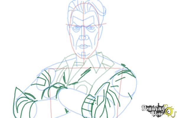 How to Draw Handsome Jack from Borderlands 2 - Step 11