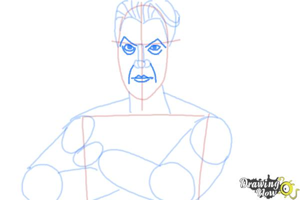 How to Draw Handsome Jack from Borderlands 2 - Step 8