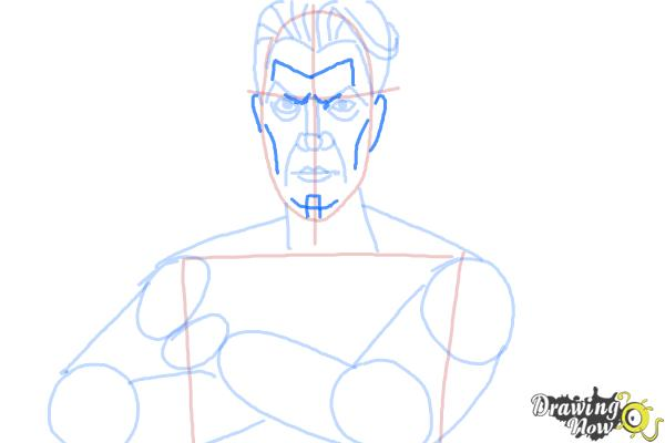 How to Draw Handsome Jack from Borderlands 2 - Step 9