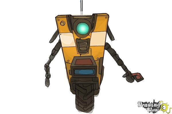 How to Draw Claptrap from Borderlands The Pre-Sequel - Step 10