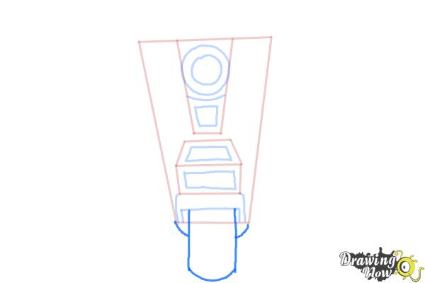 How to Draw Claptrap from Borderlands The Pre-Sequel - Step 5