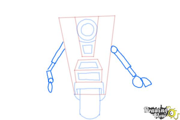 How to Draw Claptrap from Borderlands The Pre-Sequel - Step 6