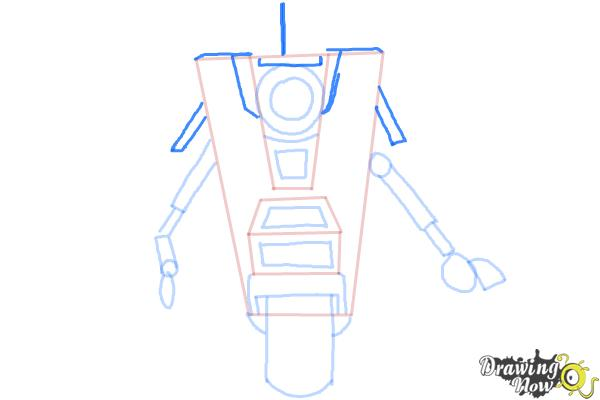 How to Draw Claptrap from Borderlands The Pre-Sequel - Step 7