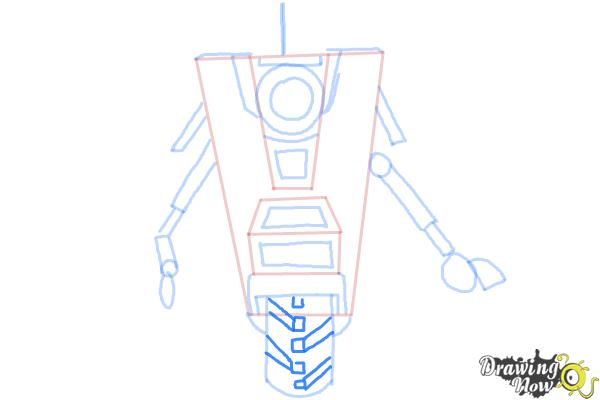 How to Draw Claptrap from Borderlands The Pre-Sequel - Step 8