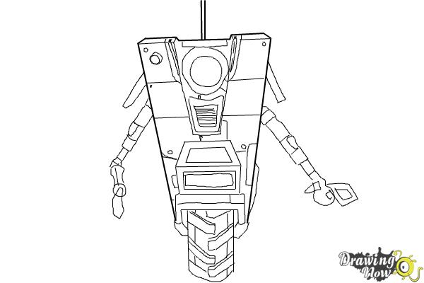 How to Draw Claptrap from Borderlands The Pre-Sequel - Step 9