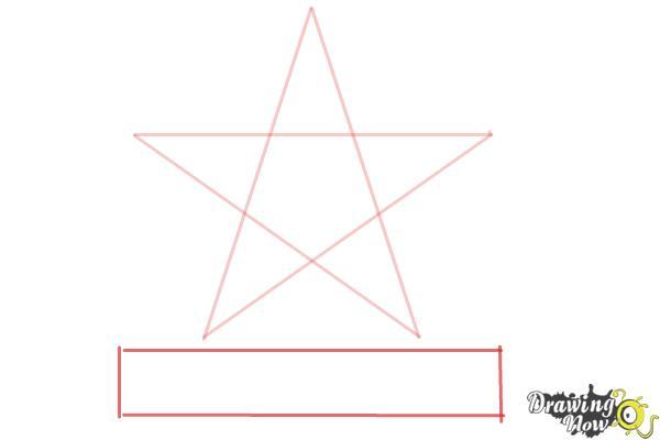 How to Draw Dallas Cowboys Logo, Nfl Team Logo - Step 3