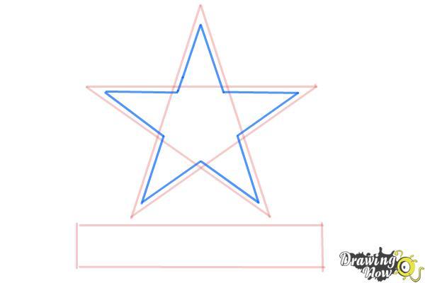 How to Draw Dallas Cowboys Logo, Nfl Team Logo - Step 4