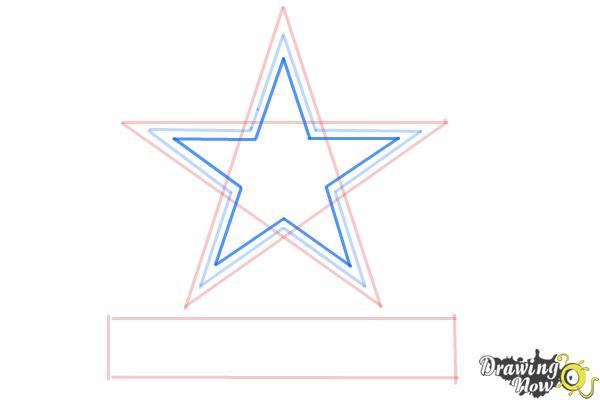 How to Draw Dallas Cowboys Logo, Nfl Team Logo - Step 5