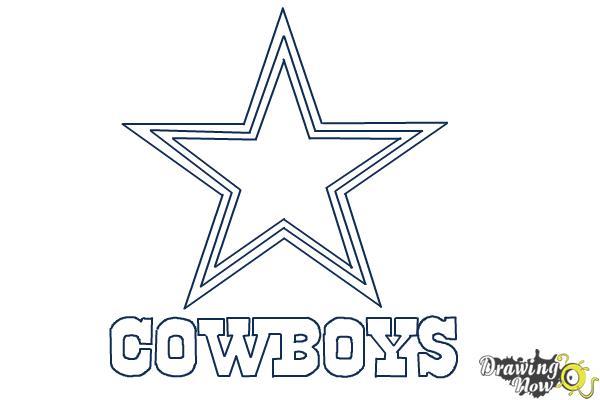 How to Draw Dallas Cowboys Logo, Nfl Team Logo - Step 9