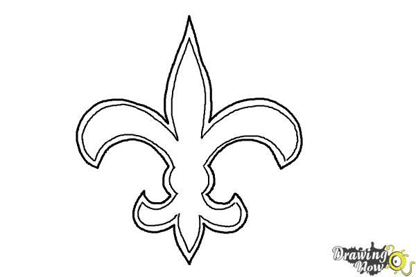 How to draw saints logo new orleans saints nfl team logo for New orleans saints color pages