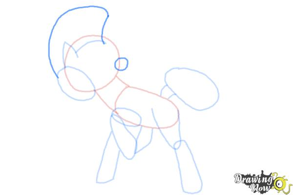 How to Draw Cheese Sandwich from My Little Pony - Step 7