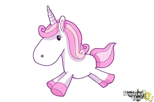 How to Draw a Cute And Simple Unicorn - Step 10