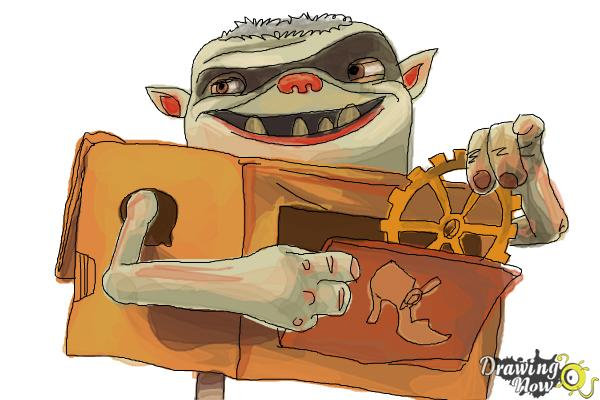 How to Draw Shoe from The Boxtrolls - Step 10