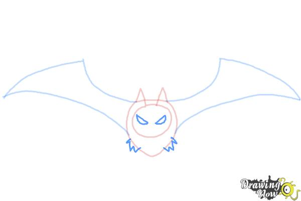 How to Draw a Halloween Bat - Step 4