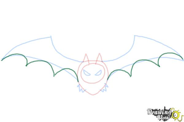 How to Draw a Halloween Bat - Step 5