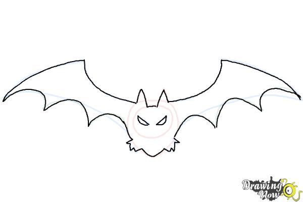 How to Draw a Halloween Bat - Step 6