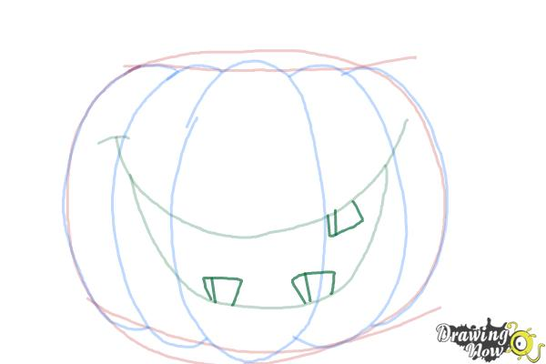 How to Draw a Halloween Pumpkin - Step 6