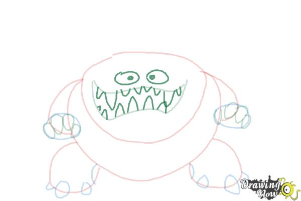How to Draw a Scary Monster - Step 6