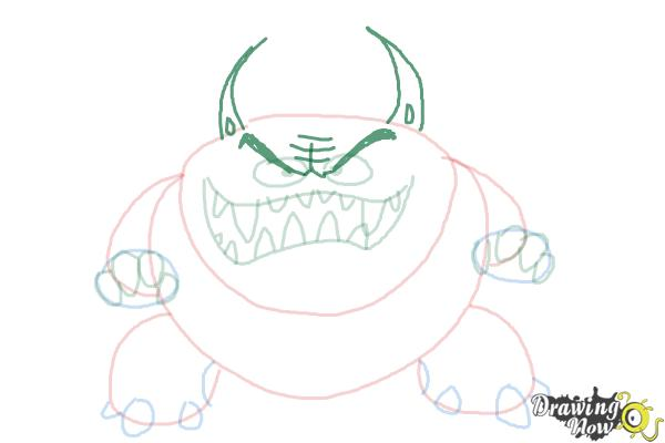 How to Draw a Scary Monster - Step 7