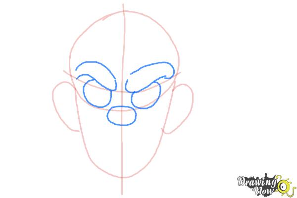 How to Draw a Scary Face - Step 3