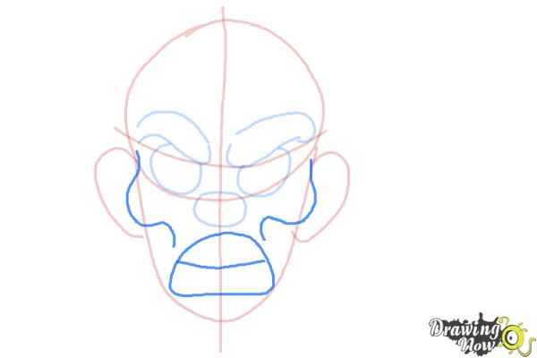 How to Draw a Scary Face - Step 4