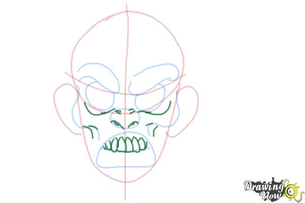 How to Draw a Scary Face - Step 5