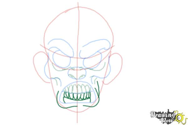 How to Draw a Scary Face - Step 6