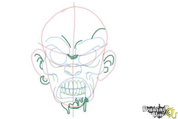 How to Draw a Scary Face - Step 7