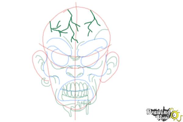 How to Draw a Scary Face - Step 8