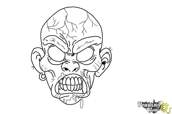 How to Draw a Scary Face - Step 9