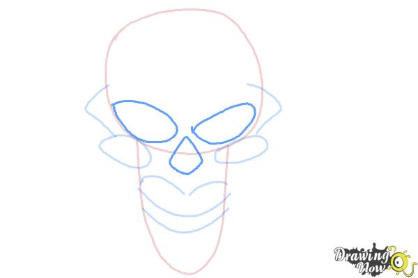 How to Draw a Scary Skull - Step 5