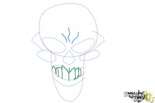 How to Draw a Scary Skull - Step 6