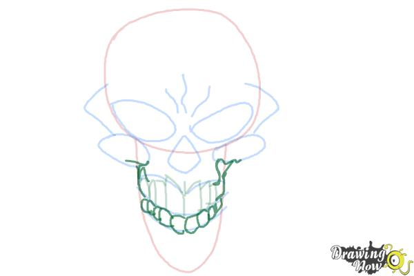 How to Draw a Scary Skull - Step 7