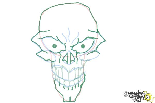 How to Draw a Scary Skull - Step 8