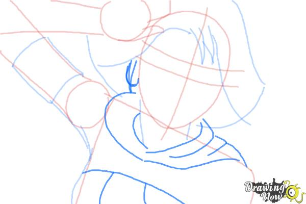 How to Draw Yuna from Final Fantasy - Step 6