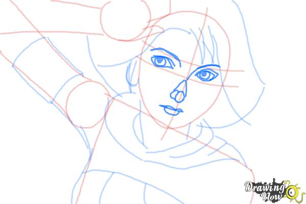 How to Draw Yuna from Final Fantasy - Step 7
