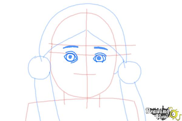 How to Draw Kaya, Doll from American Girl - Step 5