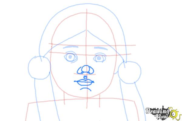 How to Draw Kaya, Doll from American Girl - Step 6