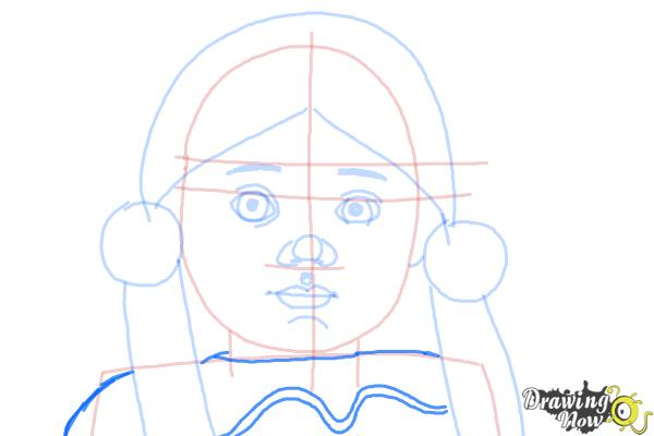 How to Draw Kaya, Doll from American Girl - Step 7